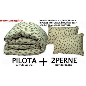 PILOTA PUF GASCA + 2 PERNE PUF GASCA doar 219 lei. TRANSPORT GRATUIT