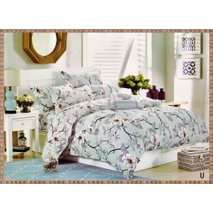 PACHET SFANTA MARIA: lenjerie de pat dublu + cuvertura matlasata cu 2 fete de perna + 2 perne + fata de masa cu motiv pascal CADOU doar 209 LEI, TRANSPORT GRATUIT  - COD U