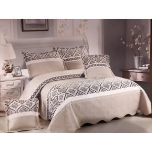 Cuvertură de pat cu 5 piese din bumbac 100 % S40